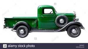 Green Vintage Pickup Chevrolet Truck From 1930s Isolated On White ...