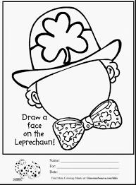 Fantastic St Patricks Day Coloring Pages With Leprechaun And Hats