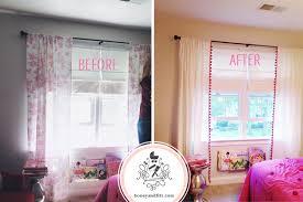 diy ikea hacked pom pom trimmed curtains