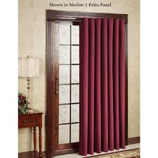 decor dark wood door casing style with crea penneys curtains and