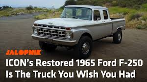 Jalopnik - ICON's Restored 1965 Ford F-250 Is The Truck You Wish You ... 1965 Ford F100 Pickup F165 Monterey 2010 Erf E10 Tractor Unit With Thames Trader And 1949 Dennis Custom Truck For Sale Classiccarscom Cc1113198 Images Of Chevy Spacehero Chevrolet Ck Trucks Sale Near Oxford Connecticut 06478 Economic Econoline Dodge D100 Rare 164 Limited Colctible Diecast Need Speed Payback C10 Stepside Derelict 1964 Carry All Dukes Auto Sales