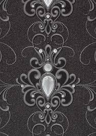 vliestapete glööckler diamant ornament anthrazit 54853