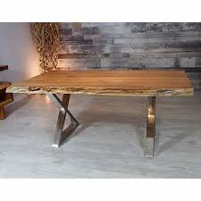 Zen Acacia Live Edge 2134 Cm 84 In Dining Table With X Legs
