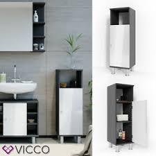 details about vicco bathroom cabinet fynn bathroom cupboard 95 cm midi unit bathroom furniture
