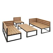 Home Decorators Free Shipping Code 2015 by Amazon Com Outdoor All Weather 4 Piece Patio Chat Set Black