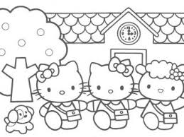 Kitty Coloring Pages Hello 9 Kids