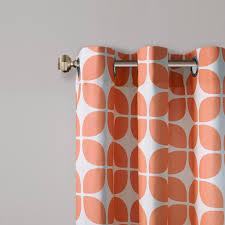 Geometric Pattern Window Curtains by Intelligent Design Lita Geometric Grommet Top Window Curtain Pair