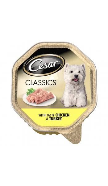 Cesar Classics Dog Tray with Chicken and Turkey in Loaf - 150g