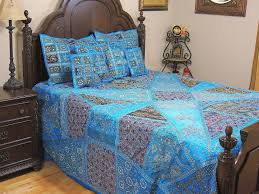 Trippy Bed Sets by Indian Handmade Embroidered Bed Cover Queen Patchwork Bedspread Throw