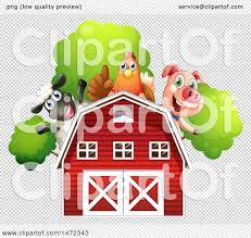 Clipart Of A Group Of Farm Animals Over A Red Barn - Royalty Free ... Red Barn Clip Art At Clipart Library Vector Clip Art Online Farm Hawaii Dermatology Clipart Best Chinacps Top 75 Free Image 227501 Illustration By Visekart Avenue Of A Wooden With Hay Bnp Design Studio 1696 Fall Festival Apple Digital Tractor Library Simple Doors Cartoon For You Royalty Cliparts Vectors