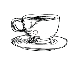 Coffee Cup Sketch Illustration Pencil Drawing Starbucks Hand Drawn