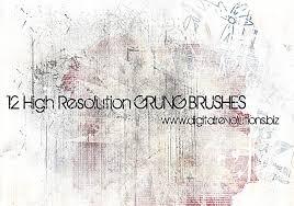 12 High Resolution Grunge Texture Brushes