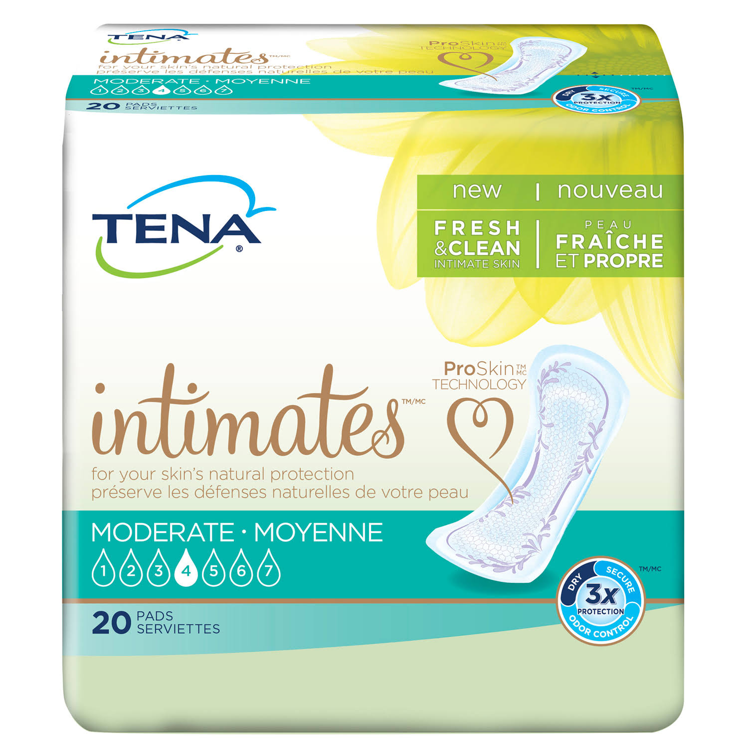 Tena Intimates Moderate Bladder Protection Pads Pack - 20pk