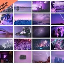 lila vsco wand collage kit foto wand ästhetische drucke etsy