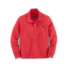 ralph lauren waffle knit half zip pullover in red for men lyst