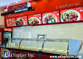 E Display Digital Menu Boards For Kung Pao Wok