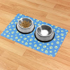No Spill Dog Bowl Placemat Non slip Pet Food Mat New
