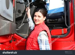 100 Female Truck Driver Young Near Big Modern Stock Photo Edit Now