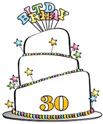 30th Birthday Cake Clipart 1
