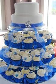Cupcake Wedding Cakes Royal Blue Cake Hydrangea Cupcakes Weddings Decorating Simple