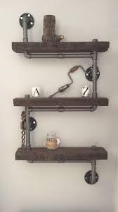 Industrial Rustic Urban Steel Pipe Shelves