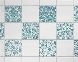 fliesenaufkleber für bad deko und küche floral petrol barok