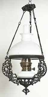 Hanging Oil Lamps Ebay antique french hanging oil lamp weighted chandelier milk glass