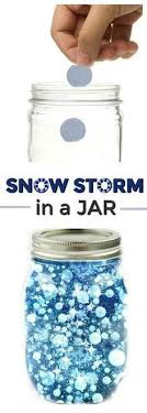 FUN SCIENCE Make A Snow Storm In Jar How Cool Winter