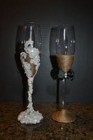 Rustic Chic Country Western Elegance Champagne Wedding Flute Glasses Toasting Set Tall 10