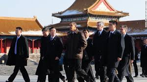 Then US President Barack Obama Tours The Forbidden City In 2009