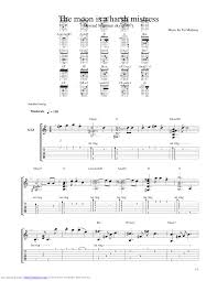 the moon is a harsh guitar pro tab by pat metheny