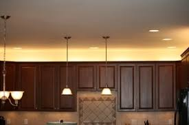 cabinet lights with gray accent led lighting kitchen