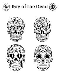 Free Printable Day Of The Dead Coloring Page