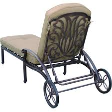 Darlee Elisabeth Cast Aluminum Patio Chaise Lounge (Set Of 2) Fniture Incredible Wrought Iron Chaise Lounge With Simple The Herve Collection All Welded Cast Alinum Double Landgrave Classics Woodard Outdoor Patio Porch Settee Exterior Cozy Wooden And Metal Material For Lowes Provance Summer China Nassau 3pc Set With End Nice Home Briarwood 400070 Cevedra Sheldon Walnut Cane Rolling Chair C 1876