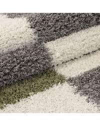 hochflor langflor wohnzimmer shaggy teppich florhöhe 3cm grau weiss grün