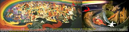Denver Airport Murals Conspiracy Debunked by Beast Head Wound Mouth And False Prophet Christian Forums