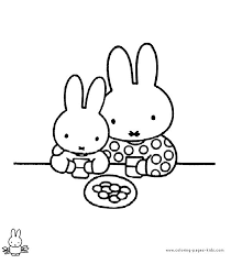 Miffy Coloring Sheet Pages Kids