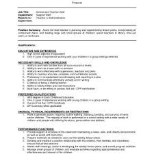 Resume Example For Pre Kindergarten Teacher Assistant Save Teaching Best