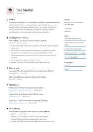 Telemarketer Resume Templates 2019 (Free Download) · Resume.io 01 Year Experience Oracle Dba Verbal Communication Marketing And Communications Resume New Grad 011 Esthetician Skills Inspirational Business Professional Sallite Operator Templates To Example With A Key Section Public Relations Sample Communication Infographic Template Full Guide Office Clerk 12 Samples Pdf 2019 Good Examples Souvirsenfancexyz Digital Velvet Jobs By Real People Officer Community Service Codinator