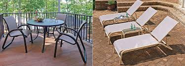Telescope Patio Furniture Dealers by Telescope Casual Maxx Sling Collection Aluminum Outdoor Furniture
