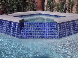 Pool Waterline Tiles Sydney by Step Spillway In Tile From Spa To Pool American Heritage Pool
