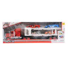 100 Truck Scale Near Me Light Up Friction Forward Auto Hauler Semi With Race Cars