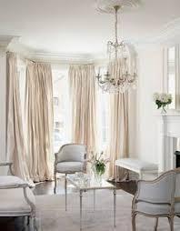 Pleated Silk Drapes VANILLA French Pleat Pinch Classic Living Room Elegant
