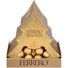 Ferrero Rocher Christmas Tree Stand by Ferrero Rocher Fine Hazelnut Chocolates 5 3 Oz Box Walmart Com
