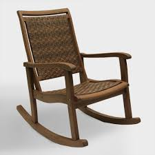 Brown All Weather Wicker And Wood Galena Rocking Chair Ball ...