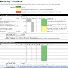 Business Marketing Plan Tactical Template Example Plans Absolute Including