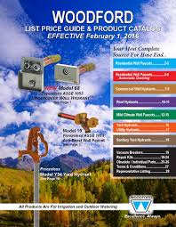 Woodford Faucet Model 14 by Woodford 2016 Price Guide By Wcm Industries Inc Issuu
