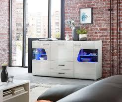 plus sideboard inkl led beleuchtung weiß hochglanz günstig möbel küchen büromöbel kaufen froschkönig24