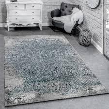 designer teppich ornamente grau blau