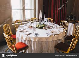 Table Many Chairs Served Many People Retro Style White Tablecloth ... Korean Style Ding Table Wood Restaurant Tables And Chairs Buy Small Definition Big Lots Ashley Yelp Sets Glamorous Chef 30rd Aged Black Metal Set Ch51090th418cafebqgg 61 Tolix Rectangular Onyx Matt Chair Fniture Side View Stock Vector The Warner Bar In 2019 Fniture Interior Indoors In Vintage Editorial Photography Image Town Quick Restaurant Table Chairs Bar Cafe Snack Window Blurred Bokeh Photo Edit Now